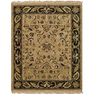 Cardwell Hand-Tufted Camel/Black Area Rug