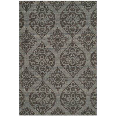 Jacobson Hand-Woven Dark Gray Area Rug Rug Size: Rectangle 4 x 6