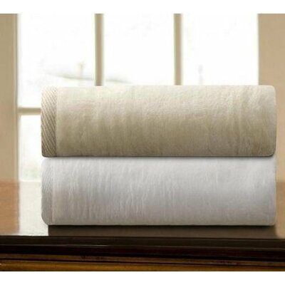Mellen Egyptian Quality Cotton Blanket Size: Twin, Color: Ecru