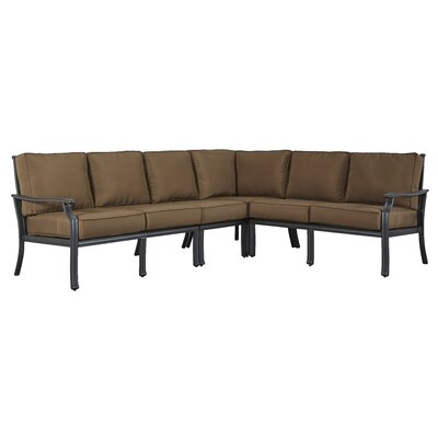 Brunelle Sectional Fabric: Brown