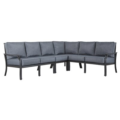 Brunelle Sectional Fabric: Gray