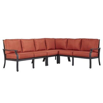 Brunelle Sectional Fabric: Red