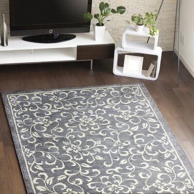 Danforth Hand-Tufted Grey Area Rug Rug Size: Rectangle 86 x 116