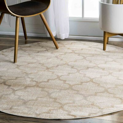 Archdale Ivory Area Rug Rug Size: Round 52