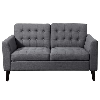 Alderbrook Tufted Loveseat Upholstery: Gray