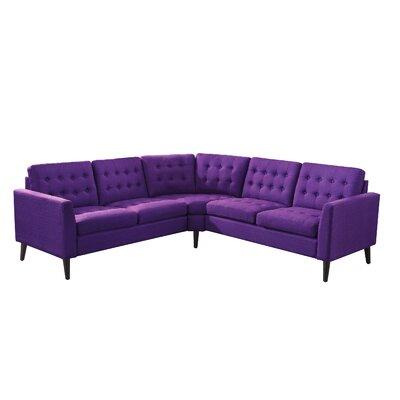 Alderbrook Sectional Upholstery: Radiant Violet