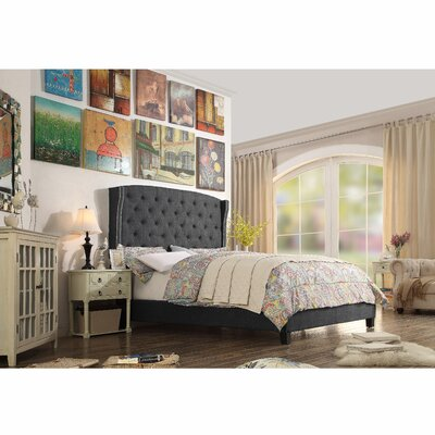 Destiny Upholstered Panel Bed Upholstery: Charcoal, Size: Full
