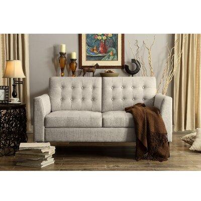 Alderbrook Tufted Loveseat Upholstery: Beige