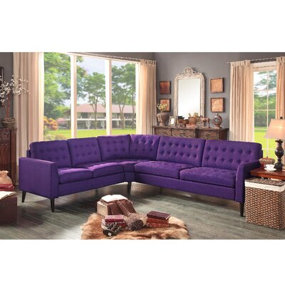 Starner Sectional Collection Upholstery: Radiant Violet