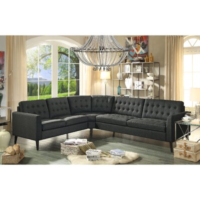 Starner Sectional Collection Upholstery: Charcoal