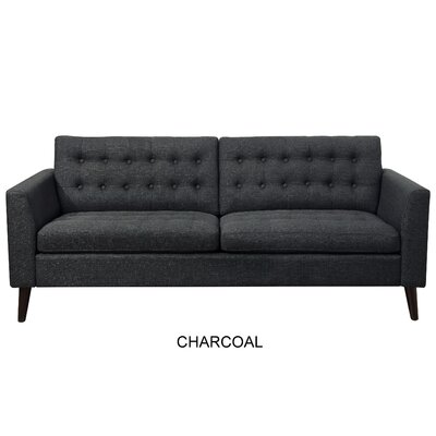 Starner Tufted Sofa Upholstery: Charcoal
