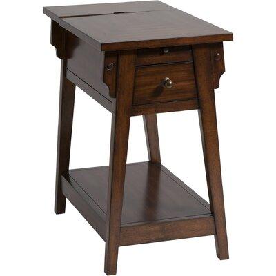 Amboyer Chairside Table in Dark Honey