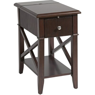 Amboyer Chairside Table in Rich Cordovan