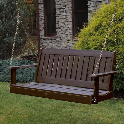 Kenilworth Porch Swing Color: Weathered Acorn