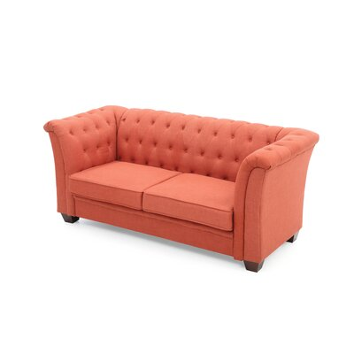 Tignor Chesterfield Sofa Finish: Orange