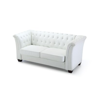 Tignor Tufted Chesterfield Sofa Finish: White