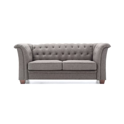 Tignor Tufted Loveseat Finish: Gray