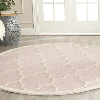 Cambridge Light Pink Area Rug Rug Size: 76 x 96