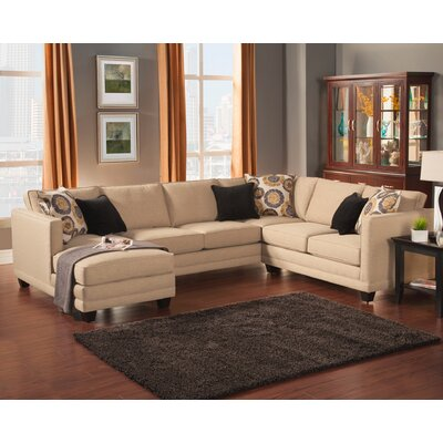 Springboro Sectional Upholstery: Almond