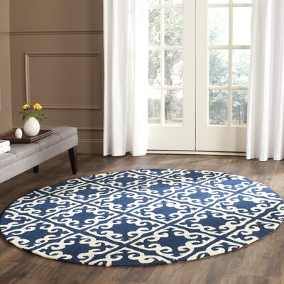 Lima Navy/Ivory Area Rug Rug Size: Rectangle 3 x 5