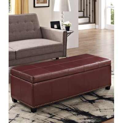 Fulton Ottoman Upholstery Color: Radicchio Red
