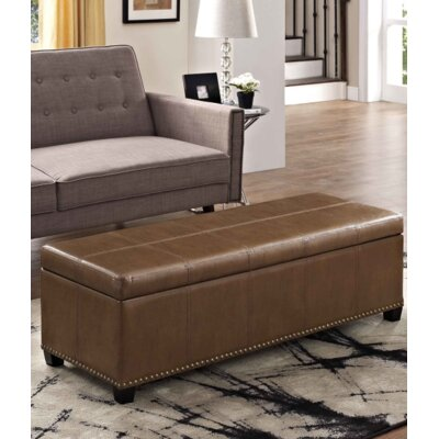 Fulton Storage Ottoman Upholstery Color: Burnt Umber