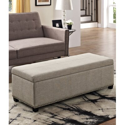 Fulton Storage Ottoman Upholstery Color: Natural