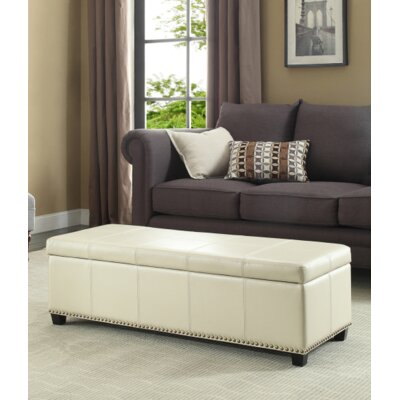 Fulton Ottoman Upholstery Color: Satin Cream