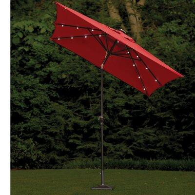 Allston  7 x 9  Rectangular Illuminated Umbrella Color: Taupe