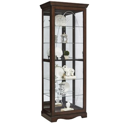 Blake Oval Etched Sliding Front Door Curio Cabinet