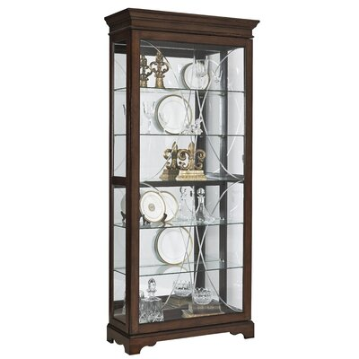 Blake Diamond Etched Sliding Door Curio Cabinet