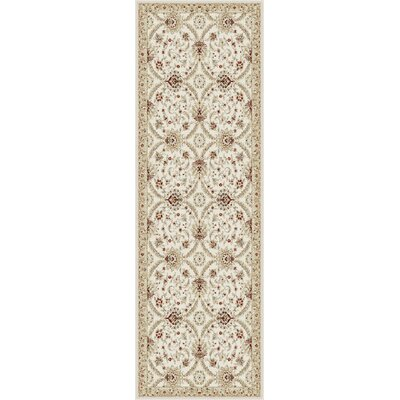 Bailey Ivory Area Rug Rug Size: Runner 27 x 73