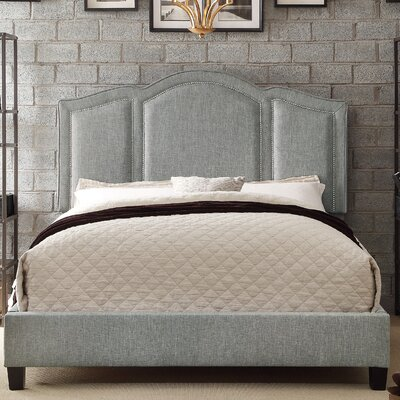 Niagara Queen Upholstered Panel Bed Upholstery: Fabric - Gray