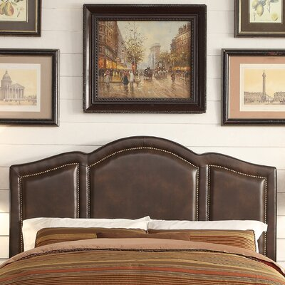 Niagara Queen Upholstered Panel Headboard Upholstery: Espresso