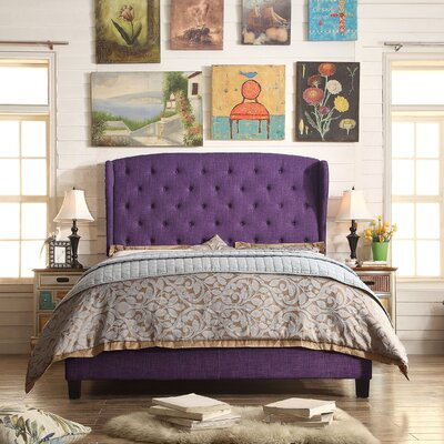Nielsen Upholstered Panel Bed Upholstery: Radiant Violet, Size: Queen