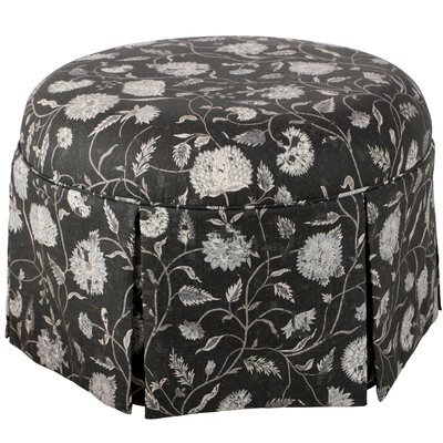 Blenheim Pouf Ottoman Color: Black