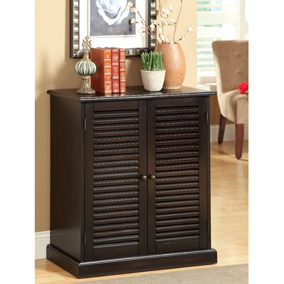 Polton Louvre 20-Pair Shoe Storage Cabinet Finish: Espresso