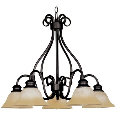 Ambrose 5-Light Shaded Chandelier Finish: Kentucky Bronzewith Wilshire Shade