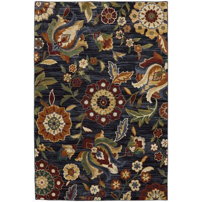 Boutell Blue Slate Area Rug Rug Size: Rectangle 96 x 1211