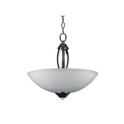 Bramblecrest 3-Light Inverted Bowl Pendant Size: 14.7 H x 16 W x 16 D