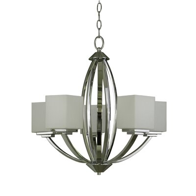 Bramblecrest 5-Light Shaded Chandelier
