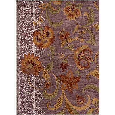 Bartz Purple Floral Area Rug Rug Size: 5 x 7