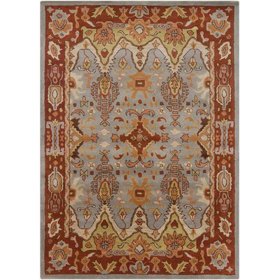 Bartz Grey Area Rug Rug Size: Rectangle 7 x 10