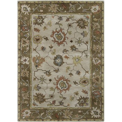 Bartz Grey/Brown Area Rug Rug Size: Rectangle 5 x 7