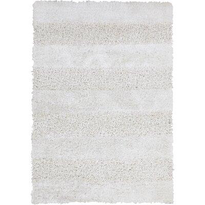 Winfrey White Area Rug Rug Size: 79 x 106