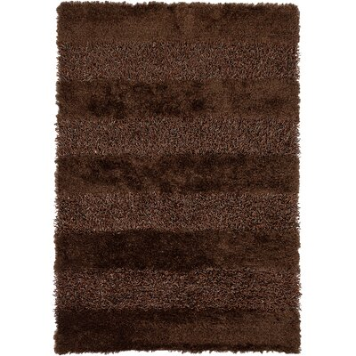 Winfrey Brown Area Rug Rug Size: 79 x 106