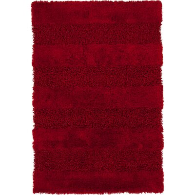 Winfrey Red Area Rug Rug Size: 5 x 76