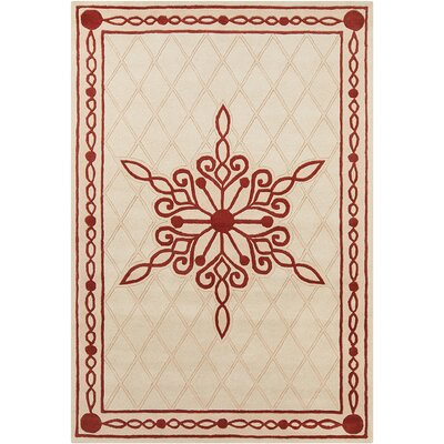 Baker Hand Tufted Wool Peach/Red Area Rug