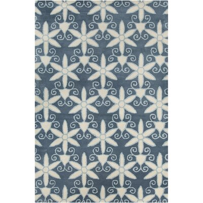 Baker Hand Tufted Wool Blue/Cream Area Rug