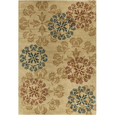 Baker Hand Tufted Wool Gold/Dark Teal Area Rug